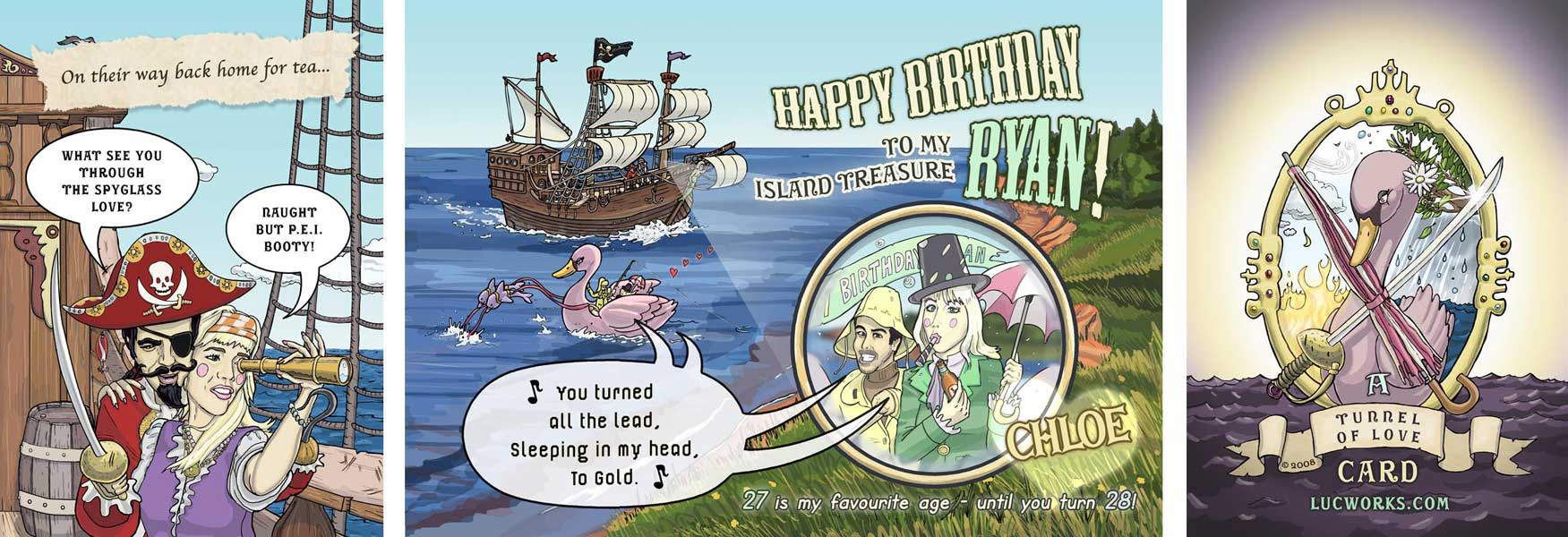 Personalized Birthday Cards – Pirate Birthday Card Sayings