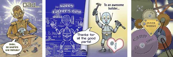 Robo Dad Fathers Day Card Thumb