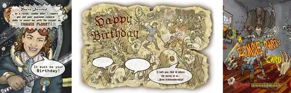 Personalized Zombie General Birthday Card